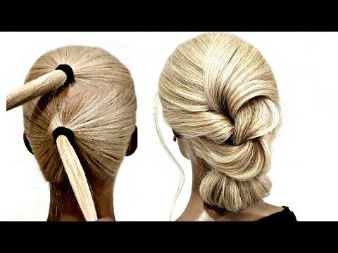 БЫСТРАЯ-Прическа-на-РЕДКИЕ-волосы-для-САМОЙ-СЕБЯ.-fast-hairstyle-for-rare-hair-for-yourself
