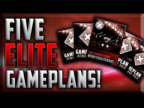 5 ELITE GAMEPLAN PACKS! SUPER RARE PULLS! Madden Mobile 17