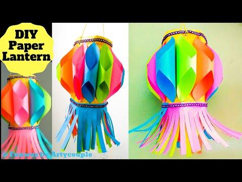 DIY Diwali paper lantern   Akash Kandil making   Diwali decoration ideas   Paper lantern tutorial