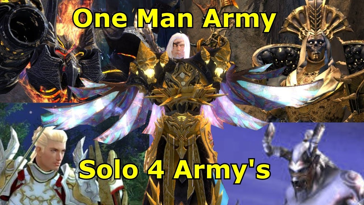 Guild Wars 2 : Spellbreaker Solo 4 Army's ( Best Solo Build )