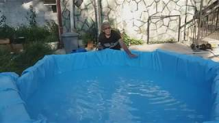 How to make a pool  with pallets - Κατασκευή πισίνας με παλέτες