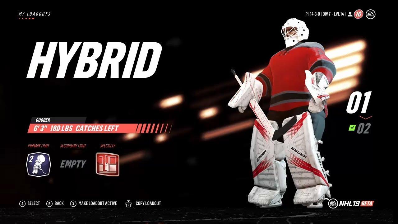 NHL 19 - Best Beta Goalie Builds! Custom classes, traits, & specializations