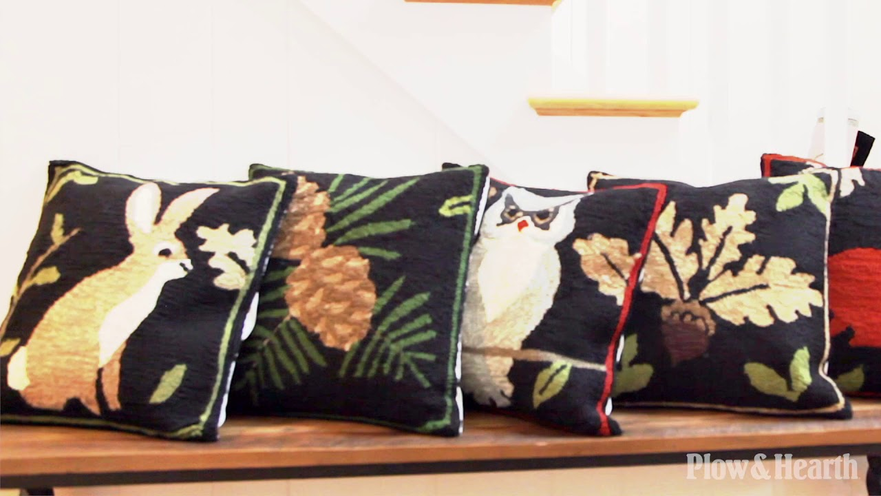 Indoor Outdoor Woodland Throw Pillows And Rugs Set Youtube