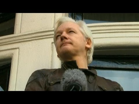 Defiant Julian Assange speaks from Ecuador's London Embassy