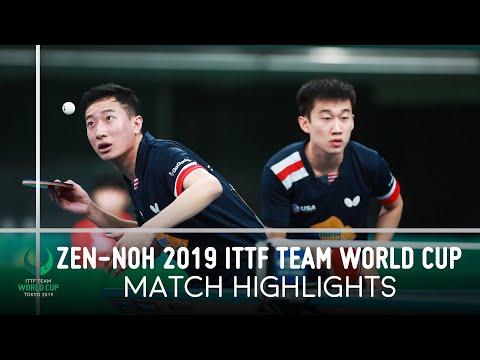 Xu Xin/liang Jingkun Vs Feng Yijun/zhang Kai  Zen-noh 2019 Team World Cup Highlights 1/4