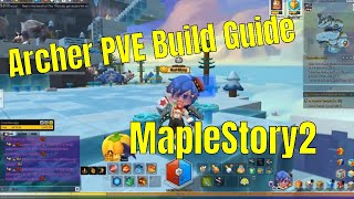 maplestory 2 archer equipment, damage, skill build