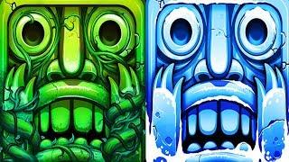Temple Run 2 Lost Jungle VS Frozen Festival Android Gameplay HD