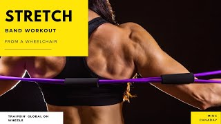 stretch band workouts from a wheelchair