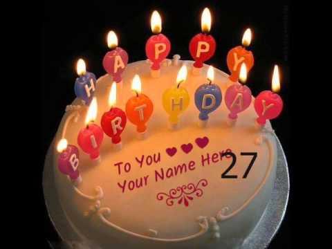 Write A Stylish Font Name On 3 Birthday Cake With Logo