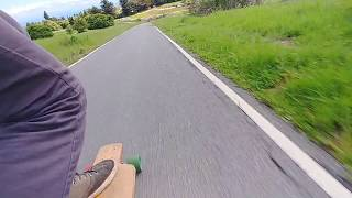 Longboarding UCSC bike path