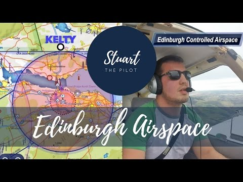How to TRANSIT CONTROLLED AIRSPACE | VFR | PA28 | Edinburgh