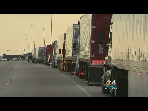 Truck Drivers Protest Pay Rates By Blocking Okeechobee Road