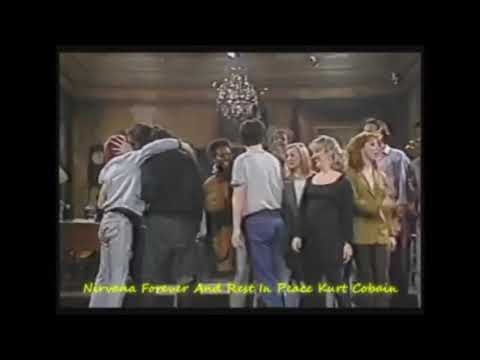 Kris kisses Dave and Kurt at the end of SNL (1992)