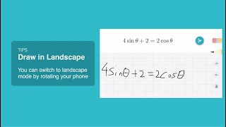Solve long equations, draw in landscape!