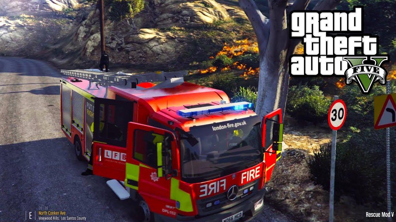 LONDON FIRE BRIGADE | GTA 5 PC EMS MOD