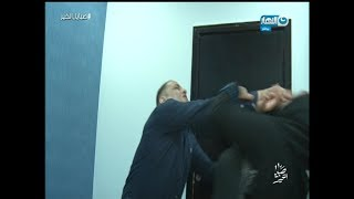 بالفيديو| مشاجرة بين رجل وطليقته في برنامج ريهام سعيد