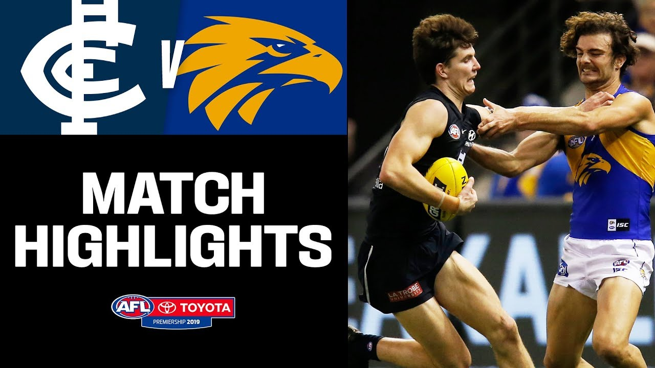 Carlton v West Coast Highlights | Round 20, 2019 | AFL