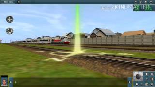Trainz simulator android add ons indonesia || persilangan ka di stasiun tarik.