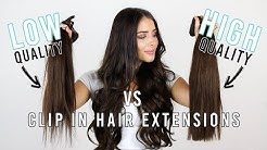 Cheap vs High Quality Clip In Hair Extensions - THE TRUTH | ZALA Hair Extensions