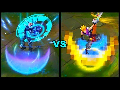 Pulsefire Ezreal vs Arcade Ezreal Ultimate vs Epic Skins Comparison (League of Legends)