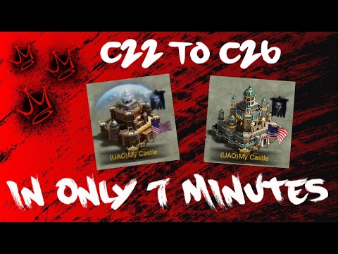 CASTLE 22 TO 26 IN 7 MINUTES - CLASH OF KINGS: THE WEST