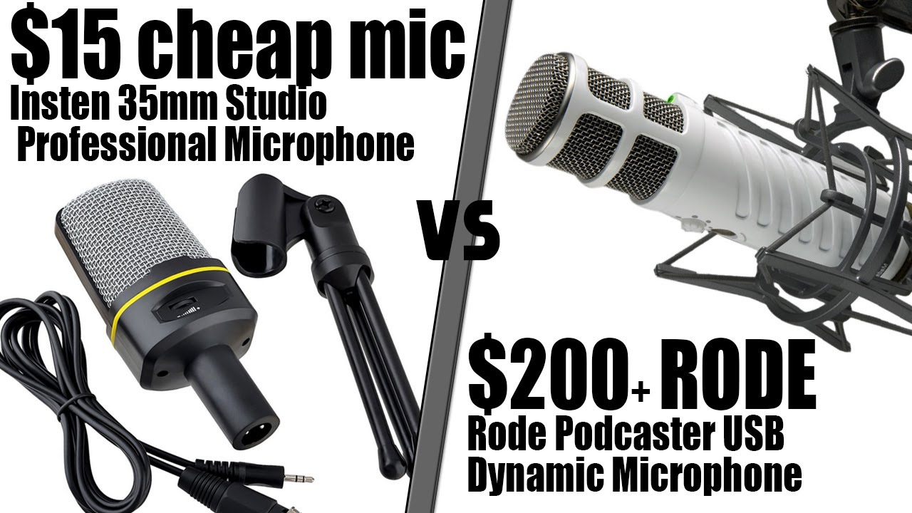 cheap 15 insten microphone vs 200 rode podcaster usb mic includes audio test tech. Black Bedroom Furniture Sets. Home Design Ideas