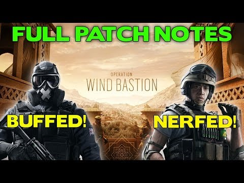 Operation Wind Bastion Full Patch Notes || Mute Buffed! Lesion Nerfed!