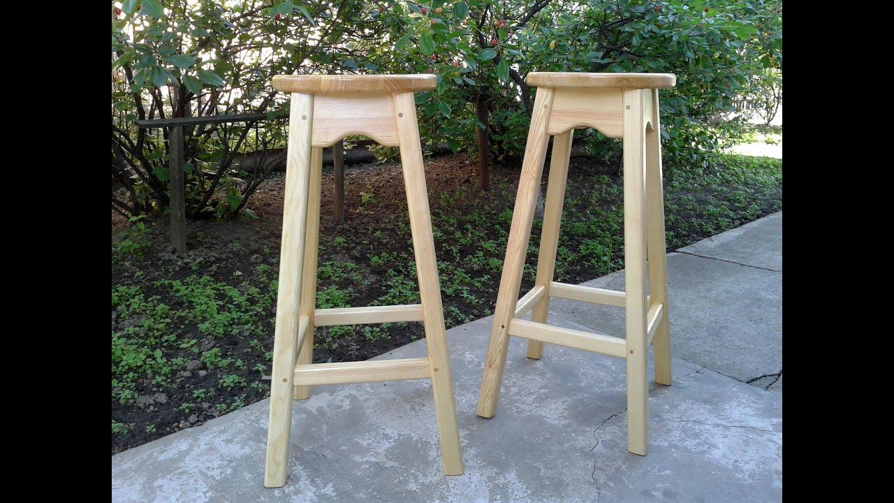 Барный стул своими руками — особенности изготовления ( фото, чертежи)