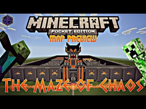 Minecraft PE Map: The Maze Of Chaos