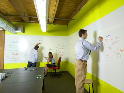 dry erase wall paint whiteboard painted ideapaint dry erase paint youtube