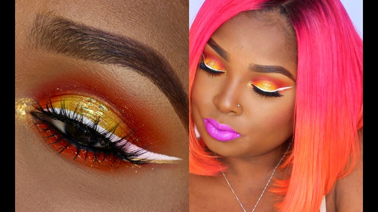 colorful halo eyes and bold lips collab with