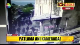 Bursa'daki patlama anı kamerada!