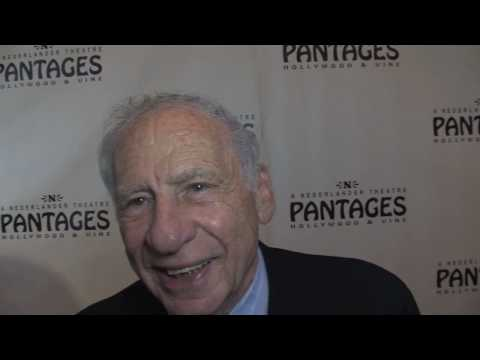 """Mel Brooks"" ""Young Frankenstein"" Premiere at the Pantages StarCAM interview"