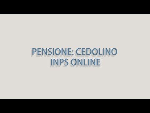 CEDOLINO PENSIONE INPS SCARICARE