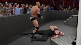 WWE 2K15- The Undertaker vs The Rock Normal Match 2015 (PS4)
