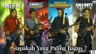 Theme Song PUBG vs Free Fire vs Call Of Duty vs Mobile Legends Soundtrack Guitar Cover