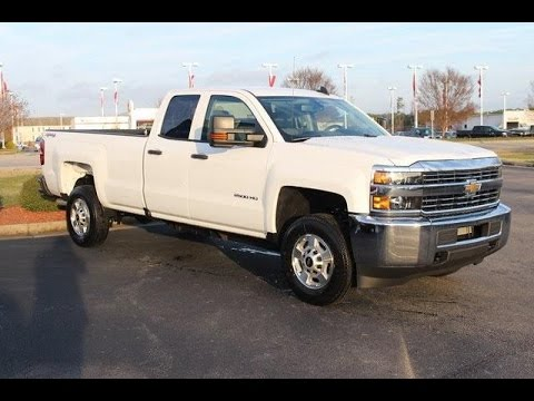 Chevy Work Truck >> 2017 Chevrolet Silverado 2500hd Double Cab 4 Wheel Drive Work Truck Wilson Nc Walkaround