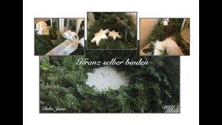 DIY: Wohn.-und Dekoidee, Tischkranz, Adventskranz, Türkranz, Kranz einfach selber binden / Deko Jana