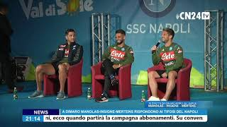 Dries Mertens risponde ai tifosi del Napoli a Dimaro-Folgarida