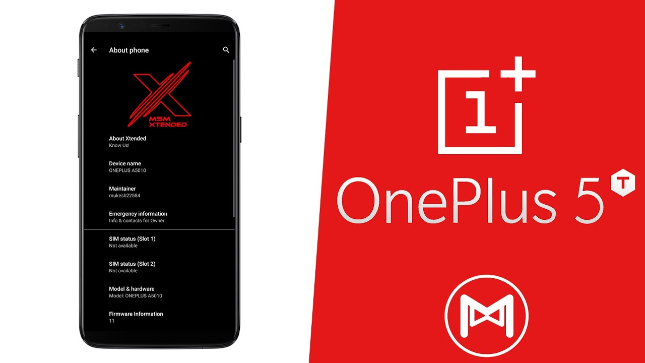 OnePlus 5T | MSM Xtended XR v1.0 | Android 11 R ROM