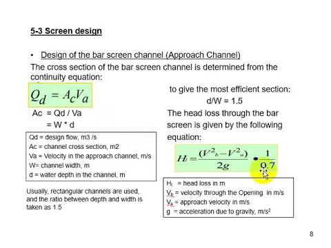 Wastewater Pumping Stations Design Lecture 5   Screen and Grinder Design