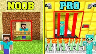 Minecraft: NOOB Vs PRO!!  *SECURE* PRISON ESCAPE In Minecraft!