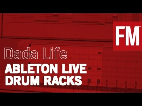 Dada Life In The Studio working with Ableton Live Drum Racks