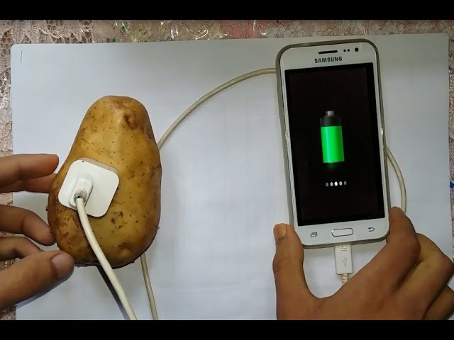 Mobile Charger Making By Potato