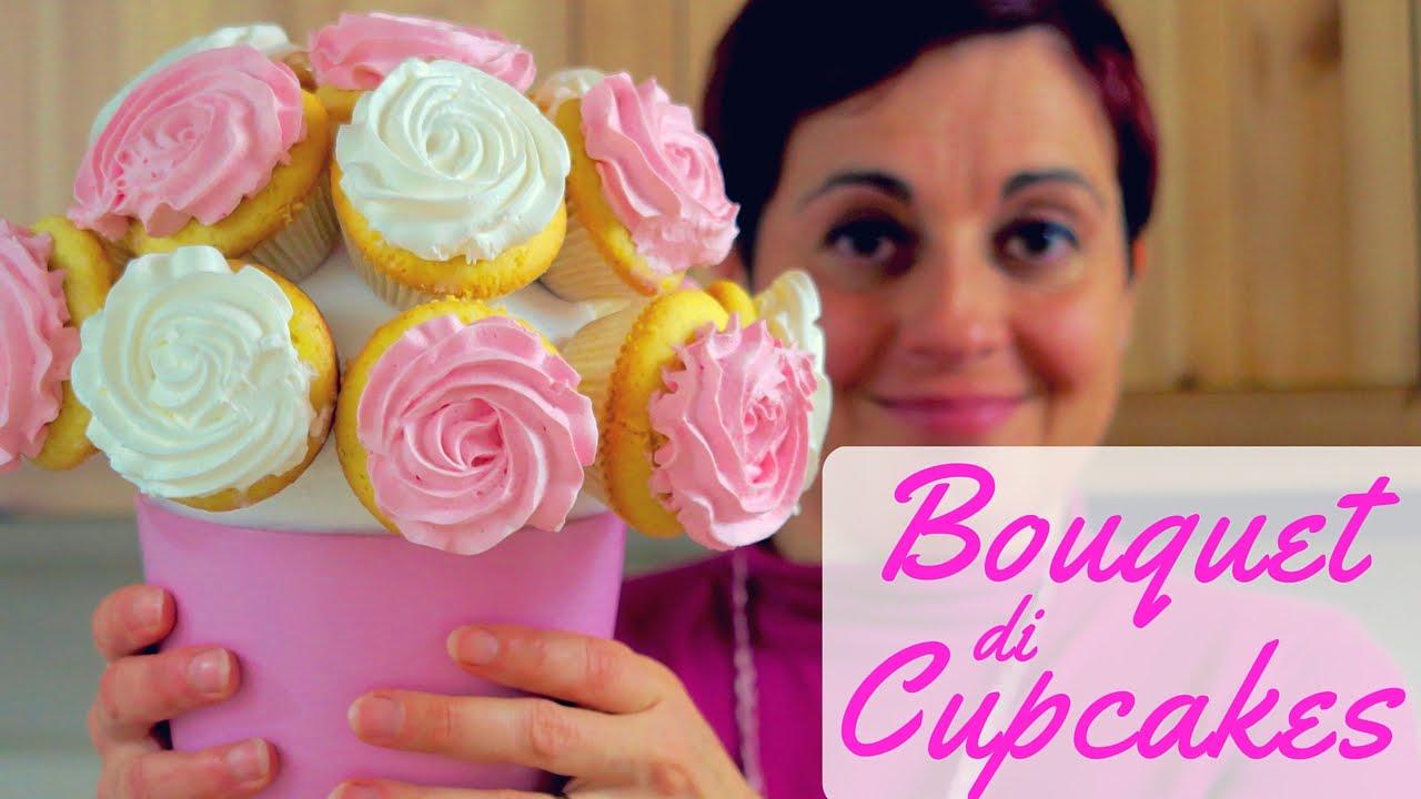 Bouquet di cupcakes rose fatto in casa da benedetta youtube for A casa con benedetta