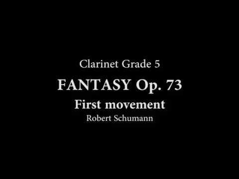 Robert Schumann: Fantasy ( Fantasiestucke ) Piece Op. 73, No. 1 for B Flat Clarinet and Piano
