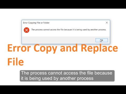 Fix 'The process cannot access the file because it is being used by another  process' Windows 10