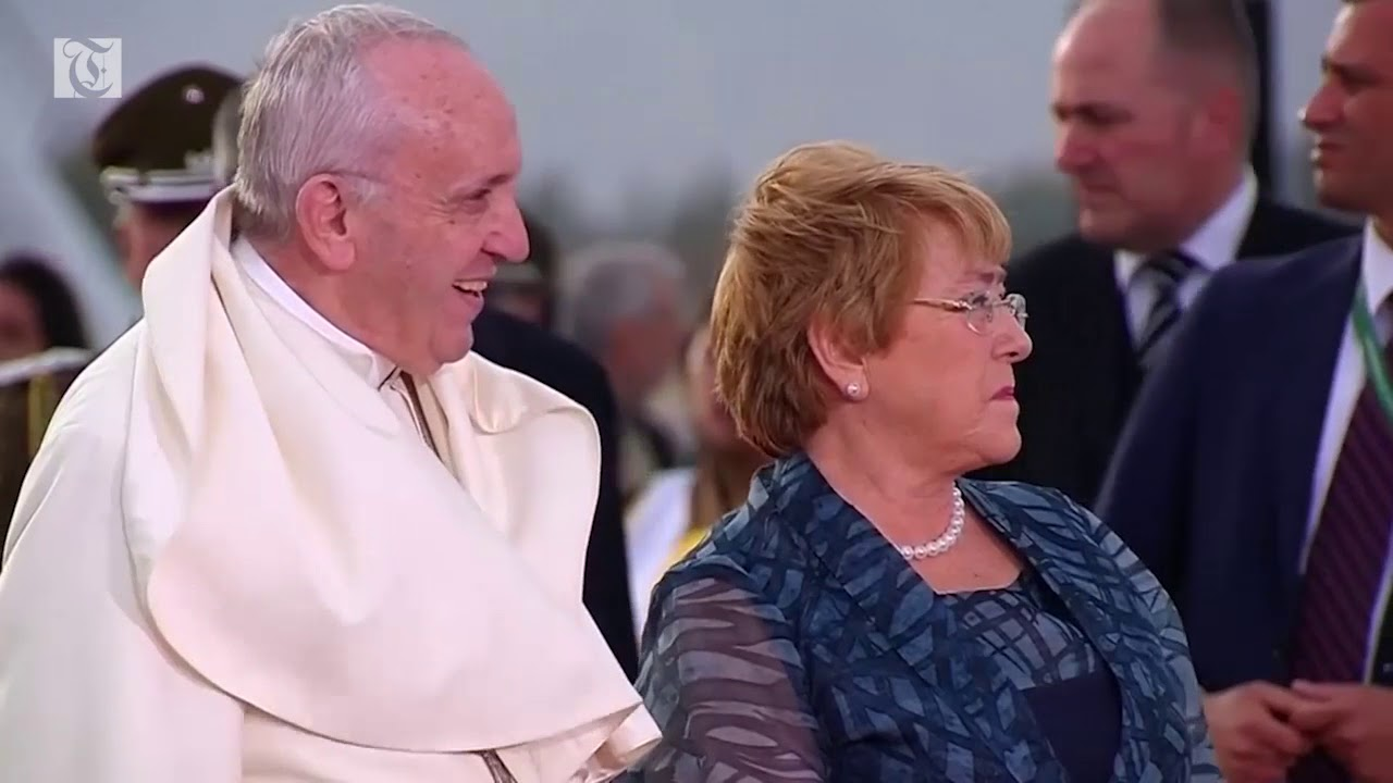 Pope Francis arrives in Chile