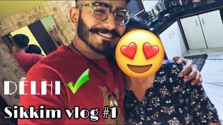 Mom got emotional 🥺  Jaipur to Delhi   Sikkim vlog#1 ♥️  Manchala Ladka🧔🏻
