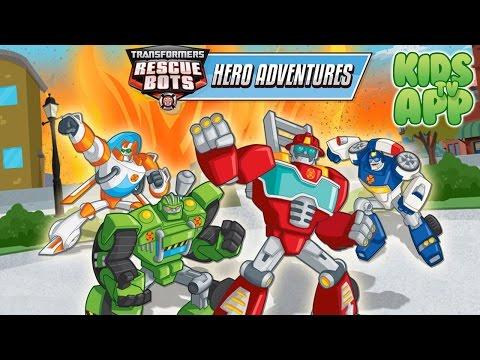Transformers Rescue Bots: Hero Adventures (Budge Studios) - Full Episode - Best App For Kids